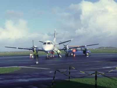 plane at Tiree airport